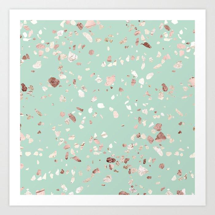 Minty Pink Art Print