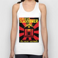 propaganda Tank Tops featuring Clocktower Propaganda by DGN Graphix