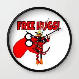Free Hugs! Wall Clock