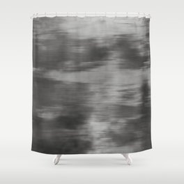 Fusion Abstract Watercolor Blend Pantone Pewter / Fluid Art Ink Shower Curtain