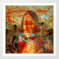 da vinci Art Prints featuring Leonardo da Vinci Abstract  by  Agostino Lo Coco