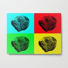 Pop Art Fossil Metal Print