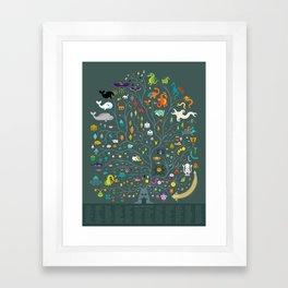 Magna Arbor Vitae Deku - Legend of Zelda Cladogram Framed Art Print