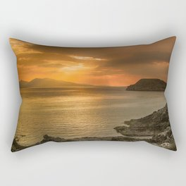 Sunset over Lismore Island of the shores of Oban in the west of Scotland. Rectangular Pillow