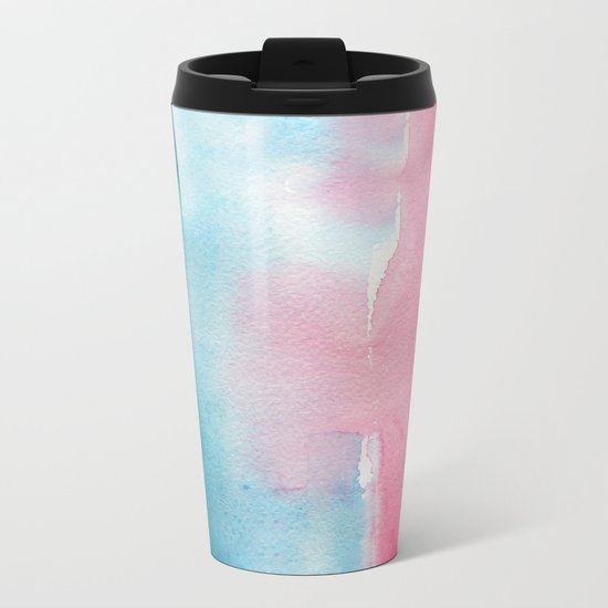 Turquoise love Metal Travel Mug