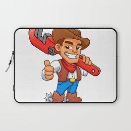 plumber cowboy Laptop Sleeve