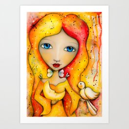 Mystical Moon Princess Art Print