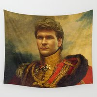 patrick Wall Tapestries featuring Patrick Swayze - replaceface by replaceface