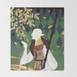 Dragon Age Solas Tarot Paper Art Throw Blanket