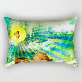 Birth of an angel  Rectangular Pillow