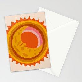 Moon Glow – Retro Ochre Stationery Cards