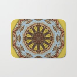 Colors of Rust, mandala 03 Bath Mat