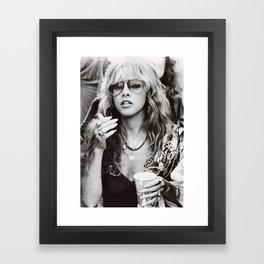 Stevie Nicks Graphic Hippie Framed Art Print