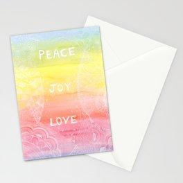 ~ Love ~ Joy ~ Peace ~ Stationery Cards