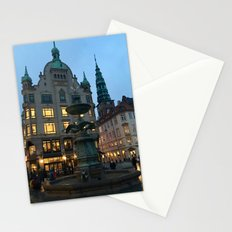 Copenhagen winter dusk Stationery Cards