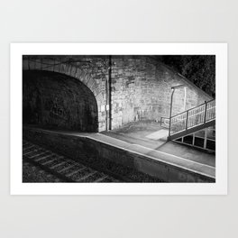 Train Station at Night time Art Print