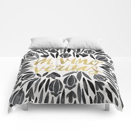 In Wine, There is Truth – Black & Gold Comforters