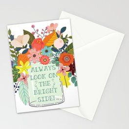 Always Look On The Bright Side Stationery Cards