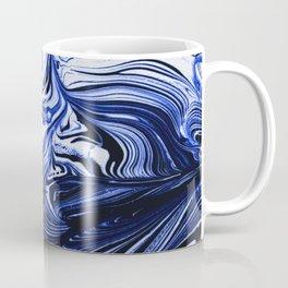 Oil Swirl Blue Droplets Abstract I Coffee Mug