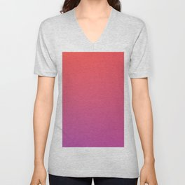 SPECIAL MOMENT - Minimal Plain Soft Mood Color Blend Prints Unisex V-Neck