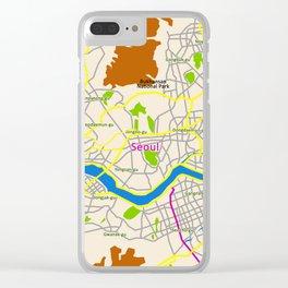 Seoul map Design Clear iPhone Case