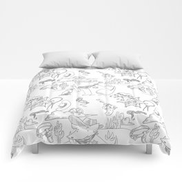 Cowboy Old West Dog Collage Comforters