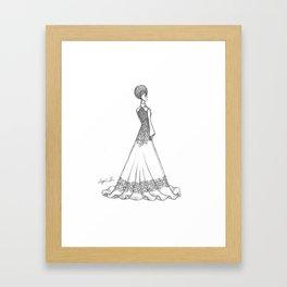 Vietnamese Wedding Dress Framed Art Print