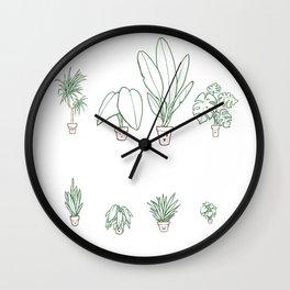 Plants family 1  Wall Clock