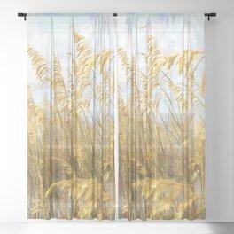 Sea Oats Sheer Curtain