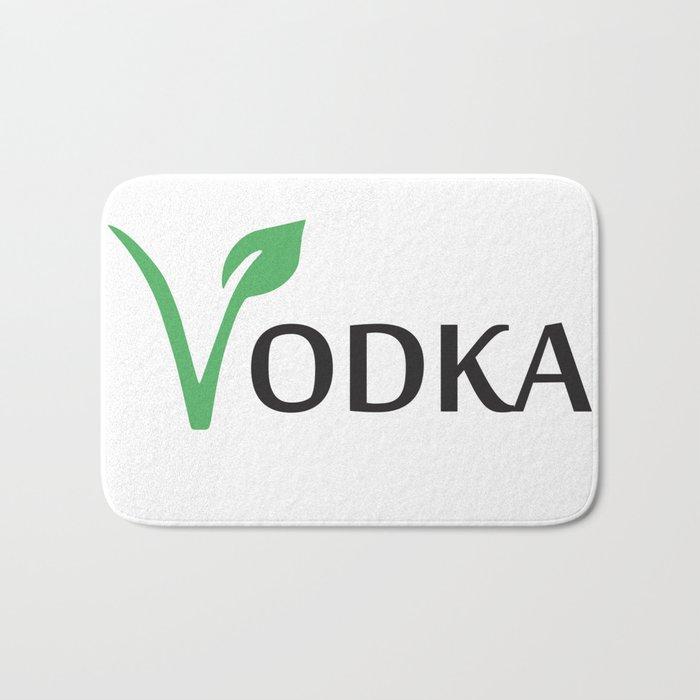 Vodka is Vegan Bath Mat