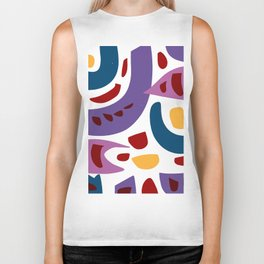Fishes Pattern Illustration Kids Art Biker Tank