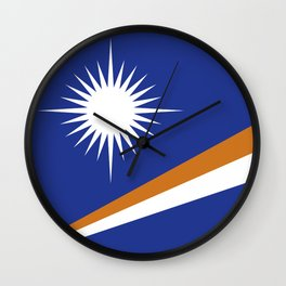 Marshall Islands flag emblem Wall Clock