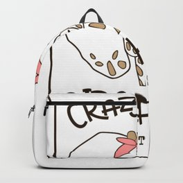 Crazy Like a Giraphant Different is Perfect Backpack