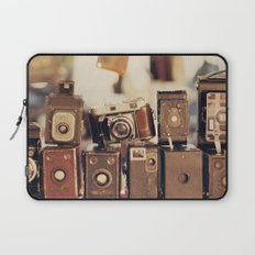 Old Cameras (Vintage and Retro Film Cameras Collection) Laptop Sleeve