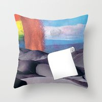 tool Throw Pillows featuring Spill Tool by Ventral Is Golden