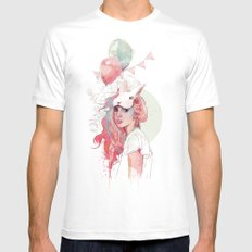 Sweet Party MEDIUM White Mens Fitted Tee