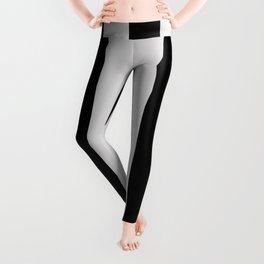 Black and Gray Vertical Stripes Leggings