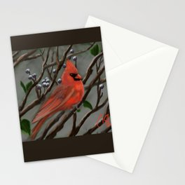 Male Cardinal DP151210a-14 Stationery Cards