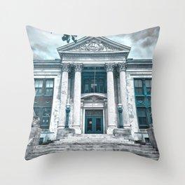 Colt School, Bristol RI Throw Pillow