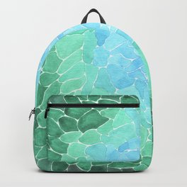 Abstract Sea Glass Backpack