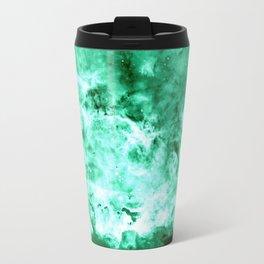 Sea Green Nebula Waves Travel Mug