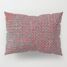 Left - Red and turquoise Pillow Sham