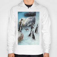 penguins Hoodies featuring Penguins. by paulette hurley