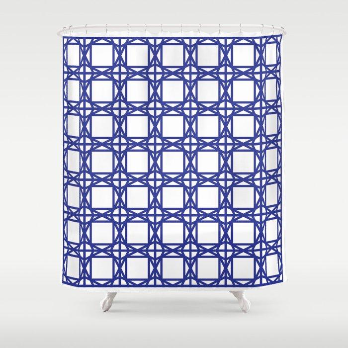 DG GEOMETRIC COBALT BLUE Shower Curtain
