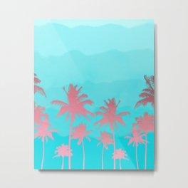 Pink coconut trees Metal Print
