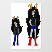 homestuck Canvas Prints featuring Vriska by Darkerin Drachen