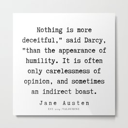 93    | Jane Austen Quotes | 190722 Metal Print