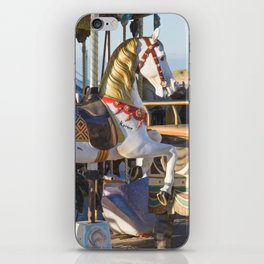 Wooden horse riding iPhone Skin