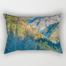 Mountain Path // Rocky Mountains Colorado Landscape Photography Amazing Shots at Sunrise Rectangular Pillow
