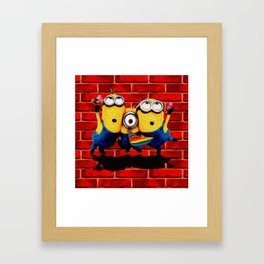 Minion Wallpaper Framed Art Print